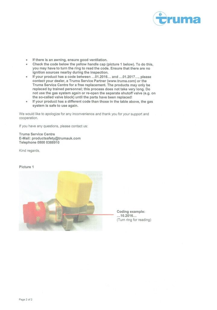 Product Recall Page 2
