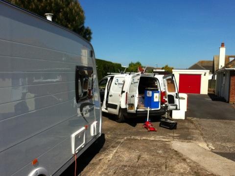 service my caravan