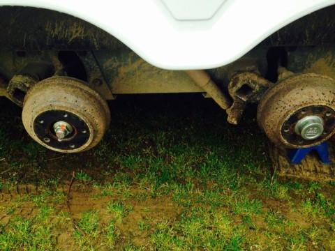 Al-Ko stub axle nut incorrectly fitted