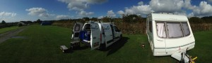on pitch caravan servicing